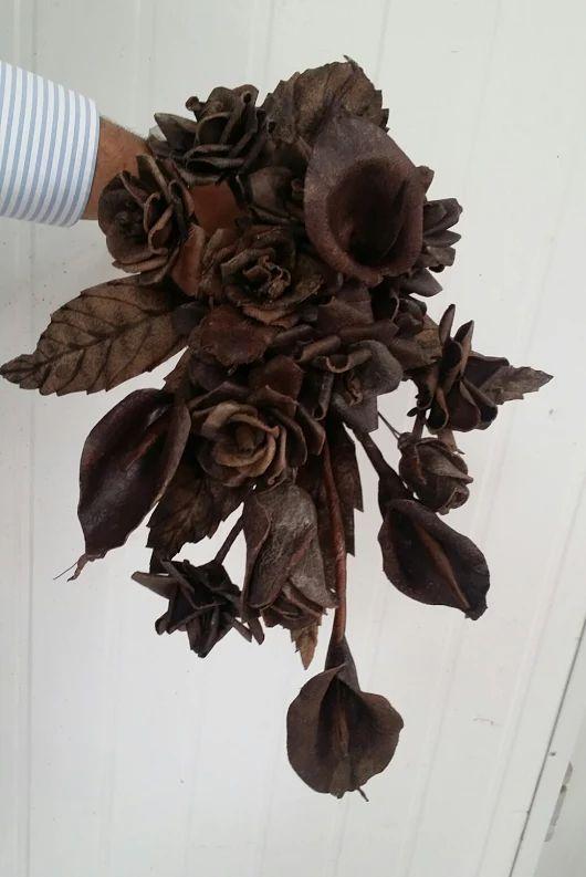 Ramo de novia de flores de cuero - Leather flowers  weeding Bouquet