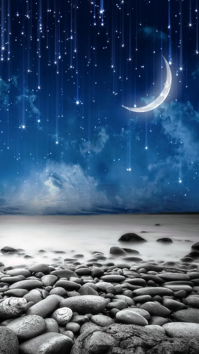 TAP AND GET THE FREE APP! Art Night Moon Sky Sand Stones