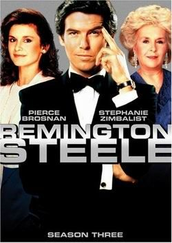 Remington Steele (1982-1987) - Stephanie Zimbalist, Pierce Brosnan, Doris Roberts - Frustrated by prejudice against a female PI, an agency owner invents a mysterious man as her boss. When the need arises to prove he's real, she hires a polished, suave Br
