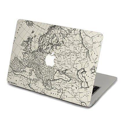 13 inch macbook decal globe, world map