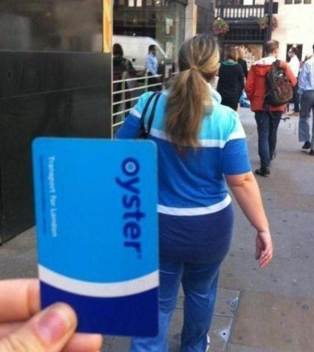 London Oyster Card fashion statement