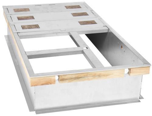 Ideal Air DriFecta accessory, Roof Curb - 14 In high, Flat, Uninsulated, Full Perimeter