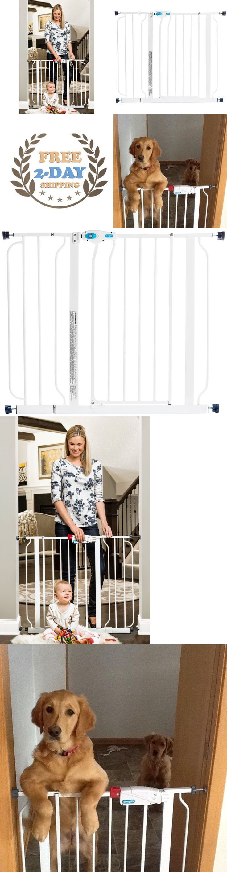 Other Baby Proofing 20434: Baby Safety Gate Walk Thru Easy Step Toddler Pet Child Stairway Infant Dog Fence -> BUY IT NOW ONLY: $42.21 on eBay!