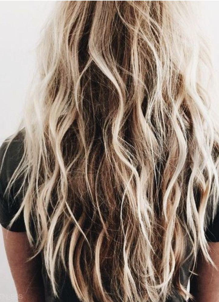 Long Blonde Balayage Beachy Hair Highlights Sunkissed