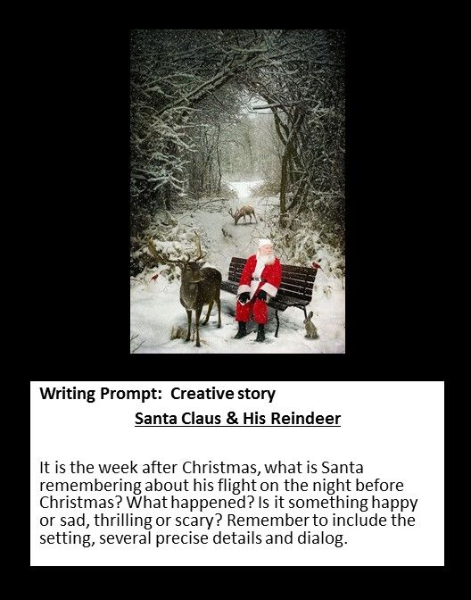 Writing Prompt: Creative Story -- Santa Claus and his Reindeer --