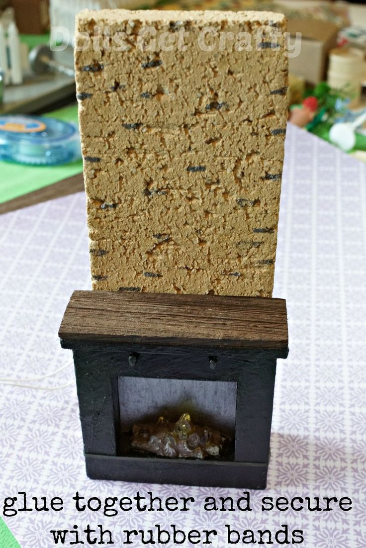 diy lundby dollhouse fireplace using paint balsa wood and. Black Bedroom Furniture Sets. Home Design Ideas
