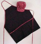 BarBQ apron and chef hat. Free pattern