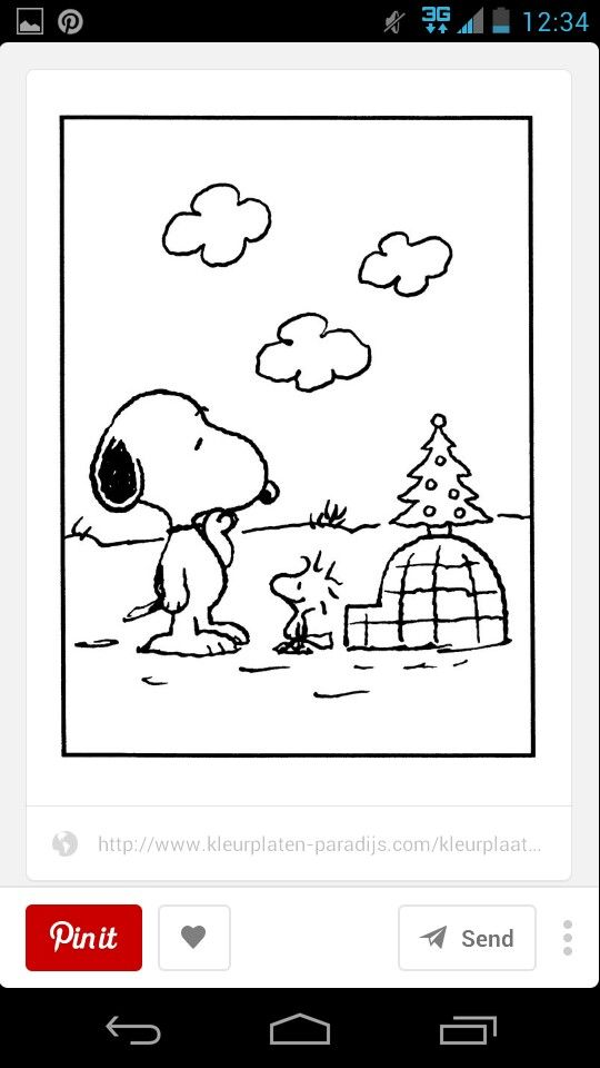 17 Best images about Snoopy Color Pages, etc. on Pinterest ...