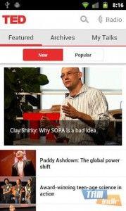 TED Konferansı Android Uygulaması