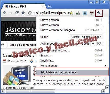 Exportar e importar Marcadores en Google Chrome