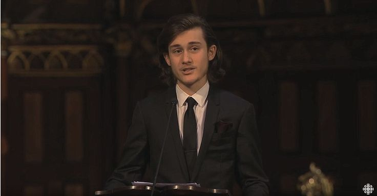 Although he is only days shy of his fifteenth birthday, Celine Dion's son René Charles Angelil has captured the heart of Canada with a moving eulogy to his late father during his funeral on Friday at the Notre-Dame Basilica