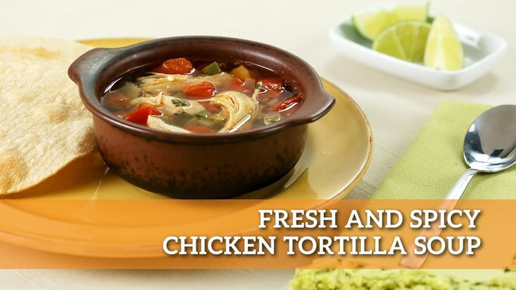 Our Fresh and Spicy Tortilla Chicken Soup will have you forgetting about this gray and chilly weather in no time! #soupseason Keep cozy with this recipe here: https://www.makegood.ca/recipe/fresh-and-spicy-chicken-tortilla-soup #makegood #recipe #soup #cooking #healthy #winter #tortilla #chicken #recipes