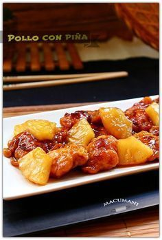 POLLO CON PIÑA ( estilo chino )   RECETAS DE MACUMANI   Bloglovin'
