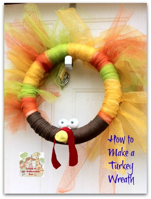 We had to make a Turkey Wreath . #craft #DIY @Kristen Sanford you need to learn to make this ;) lol