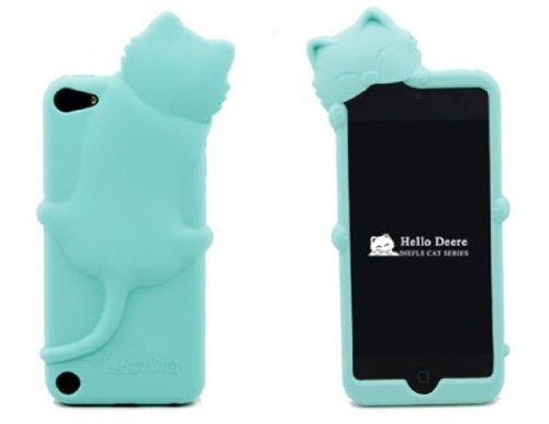 [Icase-mall] Baby Blue Lovely Kiki Cat Silicone Case Cover for Apple iPod Touch 5th Generation 5G 5