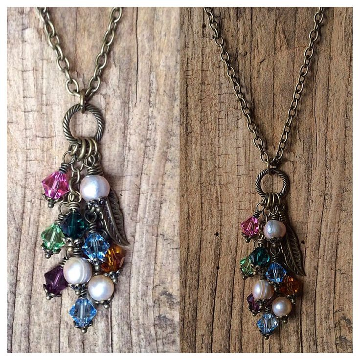 A beautiful cluster of swarovski birthstone crystals for a Mother's Day gift for Mom and Grandmother!