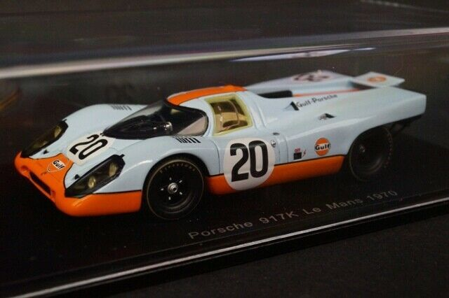 👉143 SPARK S1969 Porsche 917K Le Mans LM 1970 20 Gulf model cars