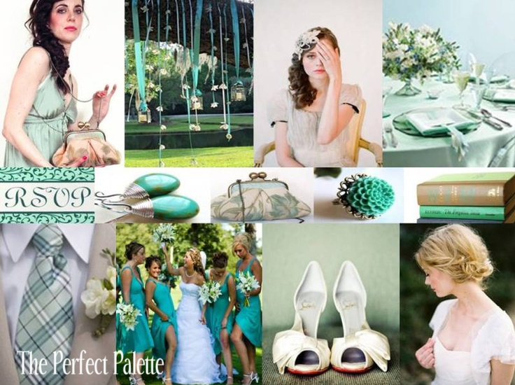 {By Request}: Teal, Aqua, Silver & White via The Perfect Palette