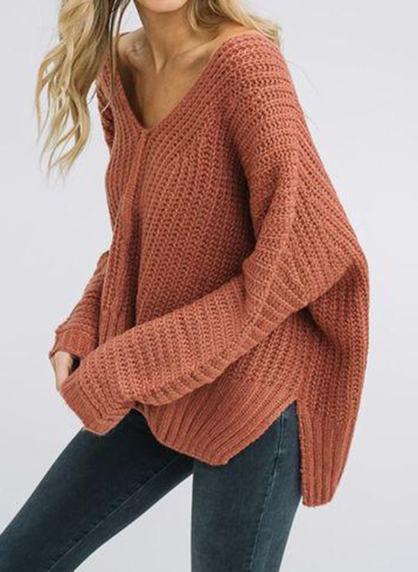 Stylish #sweaters for women 2019 2020 |V Neckline Solid