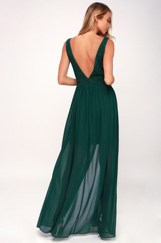 Make Way For Wonderful Forest Green Lace Maxi Dress Wish List