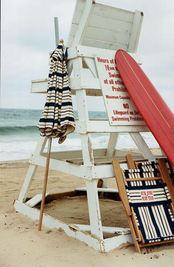 beach umbrella and chair fabricated in classic ralph lauren home
