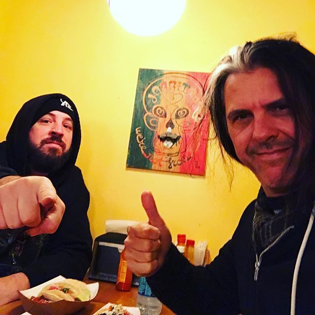 Greetings from Brooklyn. Taco break from writing... #metalallegiance #ma2 #thrashmetal #2017release #tacos🌮