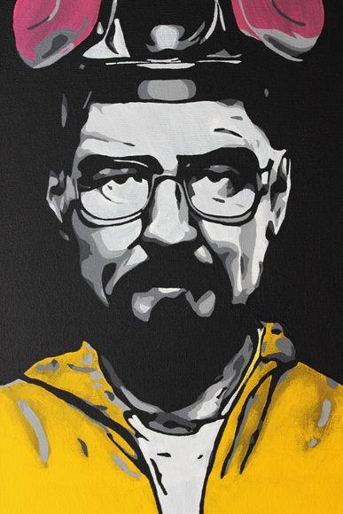 Quadro do Heisenberg da série Breaking Bad em tecido artístico 100% algodão com…