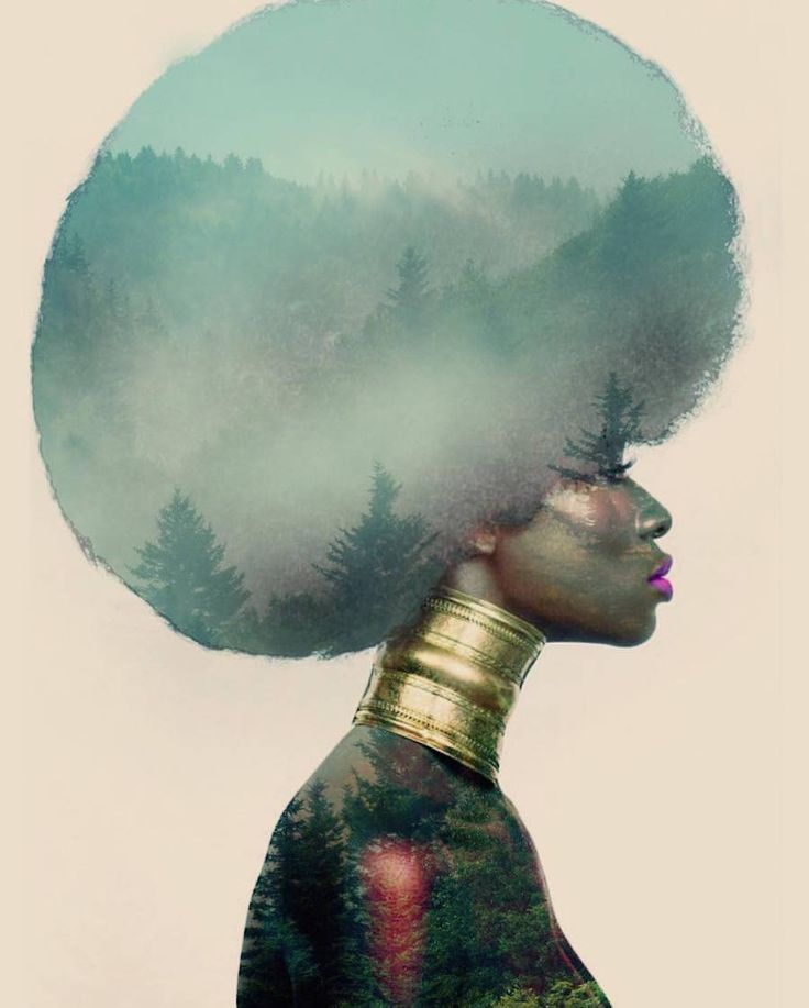 Cosmic and Flowery Afro Hairstyles – Fubiz Media