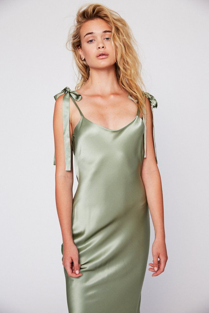 d9c1d358144e Stormi Slip in Sea Green #StoneColdFox Slip Bridesmaids Dresses, Satin  Dresses, Silk Dress