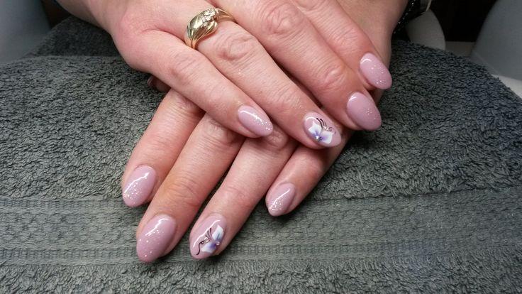#gel #gellack #nailart #onestroke #nailstyliste #flower #kunstnagels #artyficialnails