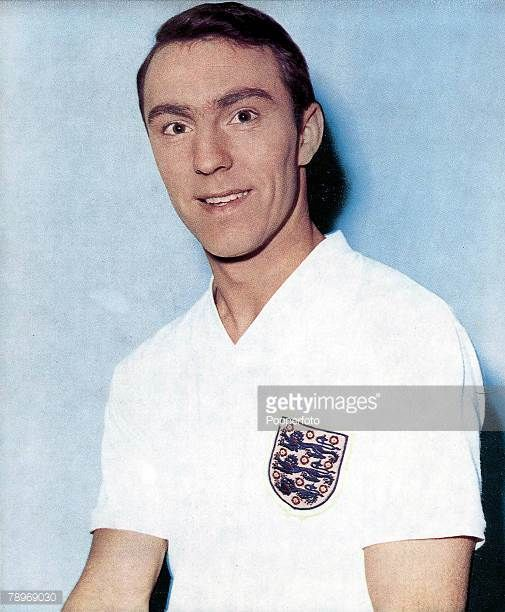 Sport Football Jimmy Greaves wearing an England shirt circa 1960