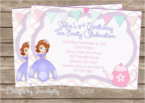 top 25+ best princess sofia invitations ideas on pinterest, Party invitations