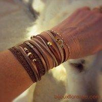 Bracelet Pépita Chataigne
