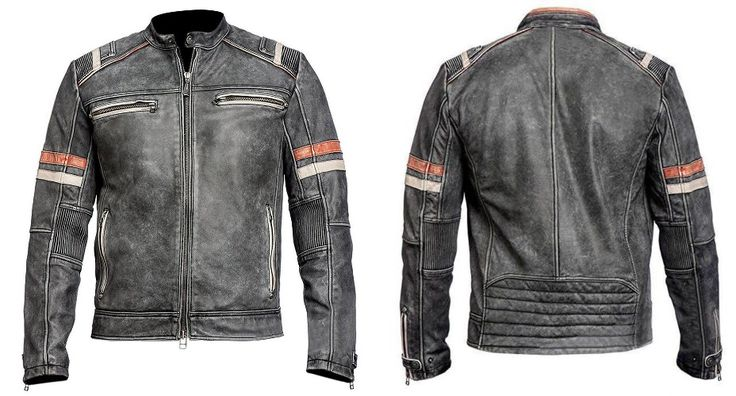 Once Again Outstanding Edition in Men's Fashion presented by our well- known online store Xtreemleather. Men Vintage Cafe Racer Retro Moto Distressed Black Jacket made from Real Leather. You can get easily this stylish jacket in discounted price.