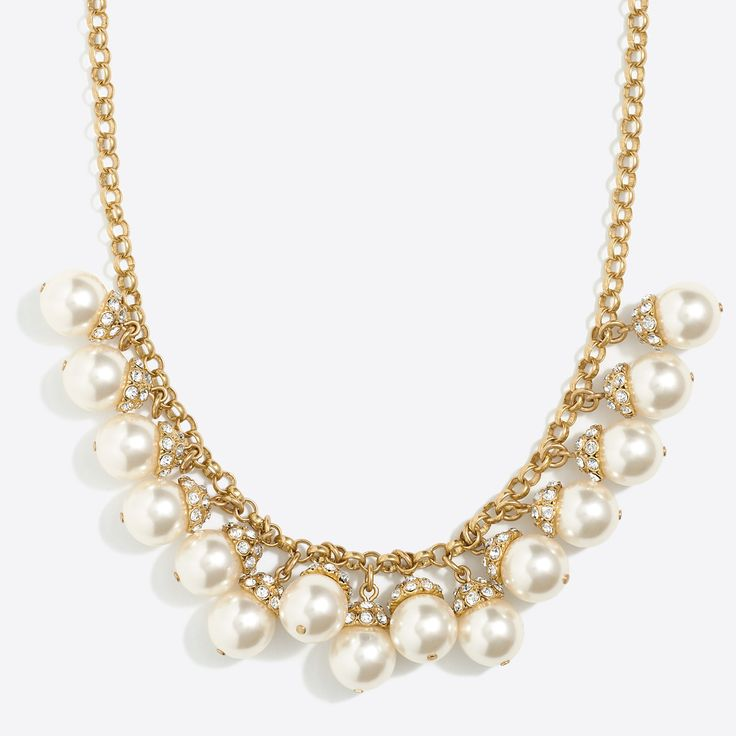 Pearl accent necklace : Necklaces | J.Crew Factory