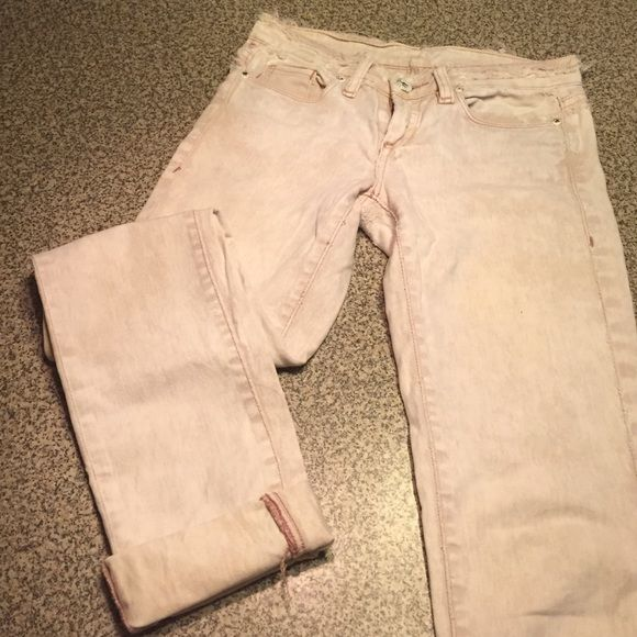 Blank Distressed Off White Jeans Blank Denim distressed jeans. Very soft and thin. 98% cotton 2% spandex. Size 25. Blank Denim Jeans