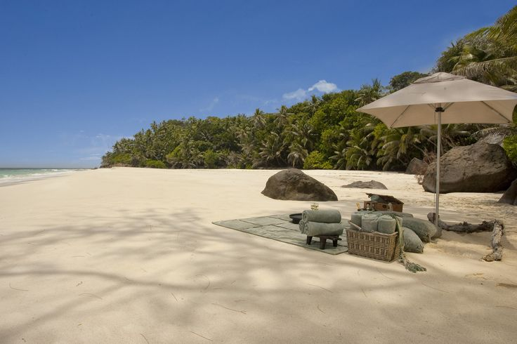 Secluded beach, North Island, Seychelles