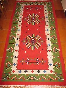 40-50 years old Romanian hand woven  carpet / rug kilim from Oltenia 6.6 x 3.2 in Antiques, Rugs & Carpets, Medium (4x6-6x9) | eBay