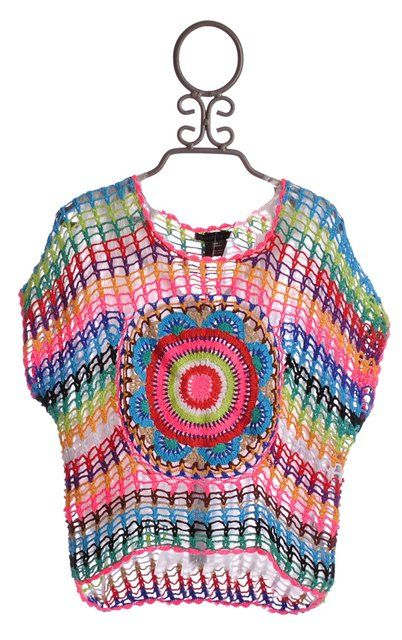 fun easytop...would also look good in different metallic yarns as evening top INSPIRATIE