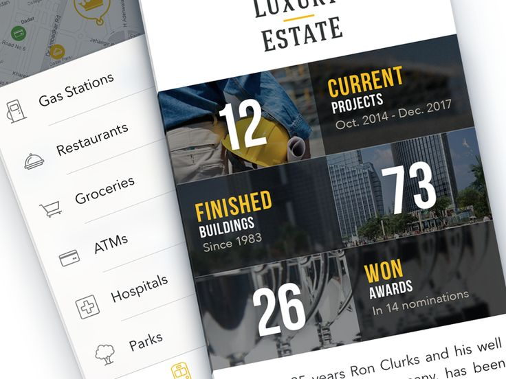 Real Estate iPhone App Design by Ramotion Google+ | Dribbble | Behance | Twitter | http://ramotion.com