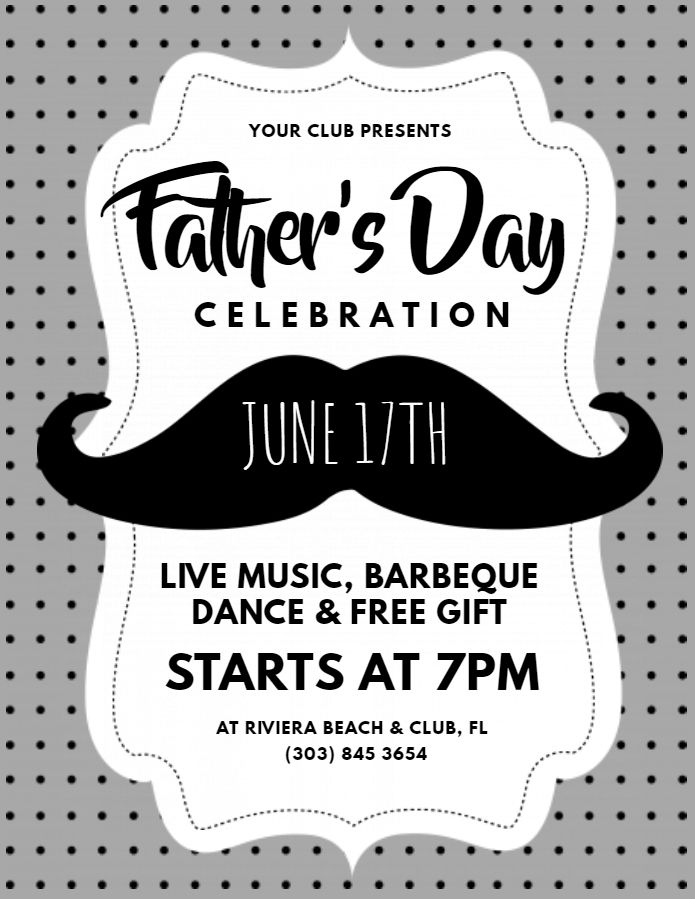 Father S Day Event Invitation Poster Template Black And White Fathers Day Poster Fathers Day Brunch Event Invitation