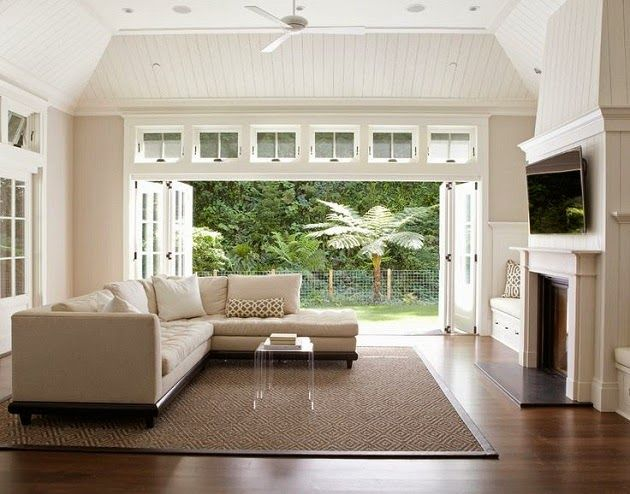 HOME TOUR: A MILL VALLEY REMODEL - love the doors that open to the backyard!