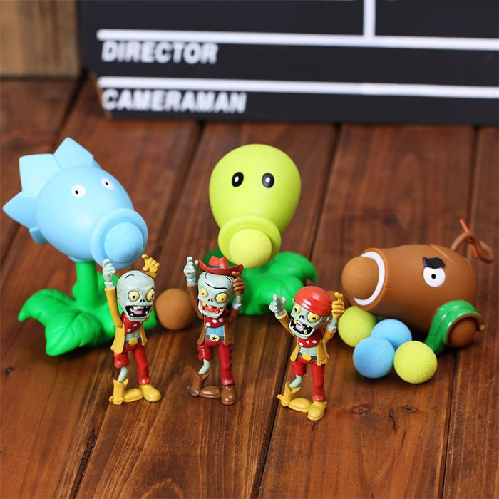 Peashooter PVZ Shooter Melon-pult Educational Toy Safe Game Plant + Zombie + 3 Ball Set-3.66 and Free Shipping  GearBest.com