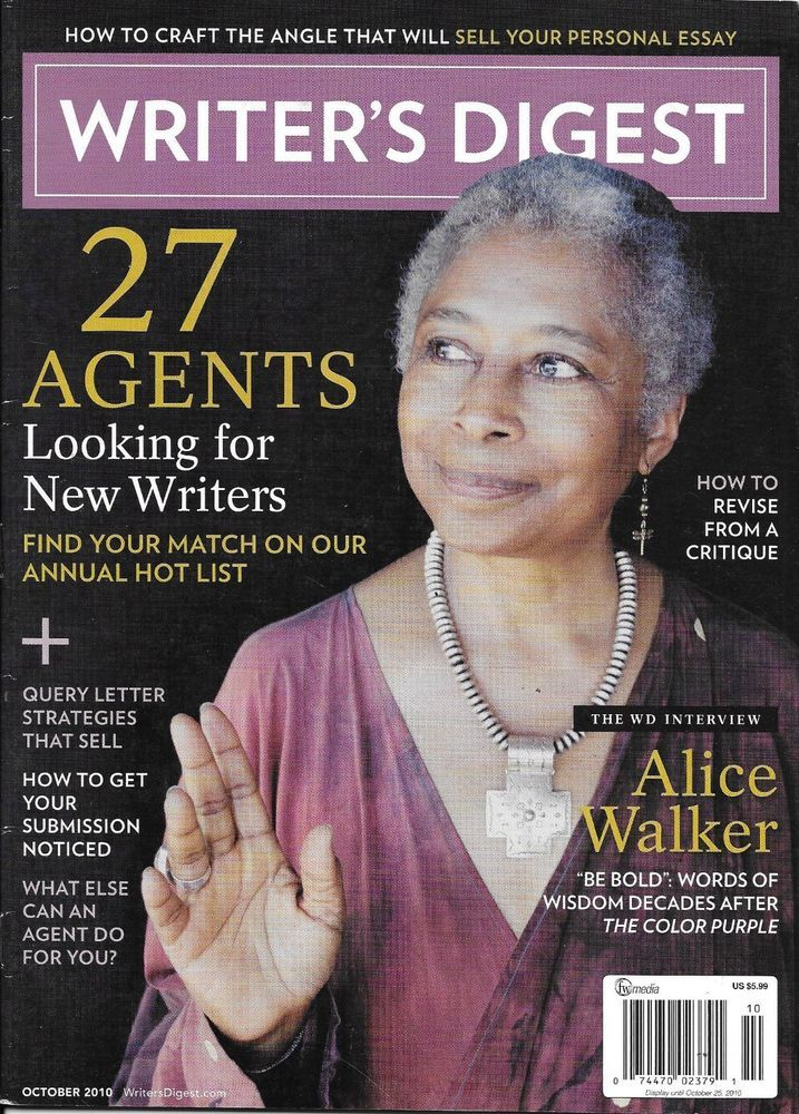 Details about Writers Digest Magazine Alice Walker Agents
