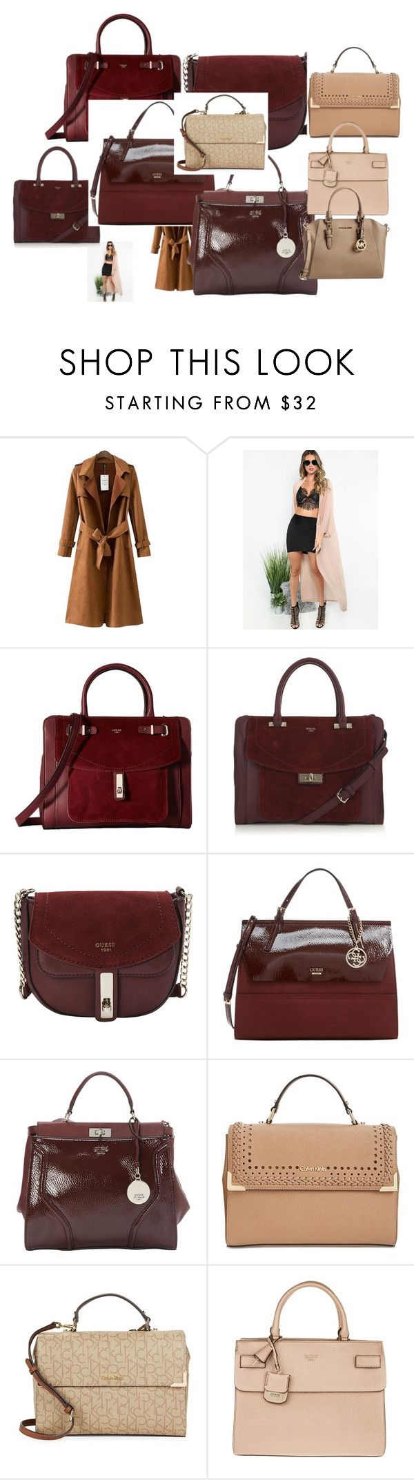 """Sin título #112"" by sousou2578 on Polyvore featuring moda, Chicnova Fashion, GUESS, Calvin Klein y Michael Kors"