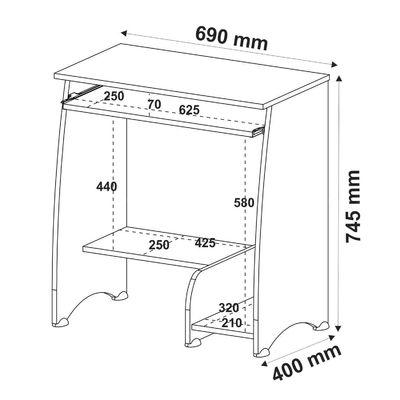 Escrivaninha/Mesa para Computador Pixel Branco - Artely