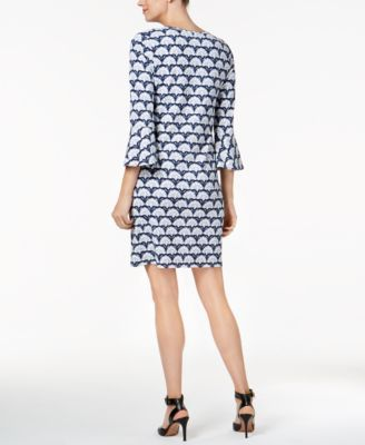 Charter Club Petite Floral-Print Shift Dress, Created for Macy's - Blue P/XL