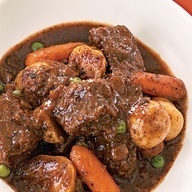 Slow-Cooker Recipe: Classic Beef Stew | This is basically how I make pot roast now. Pearl onions, carrots in the bottom of the crock. Pot roast on top. The wet stuff is the same. Baby potatoes if you want or serve over mashed potatoes. Better than Moms pot roast version.