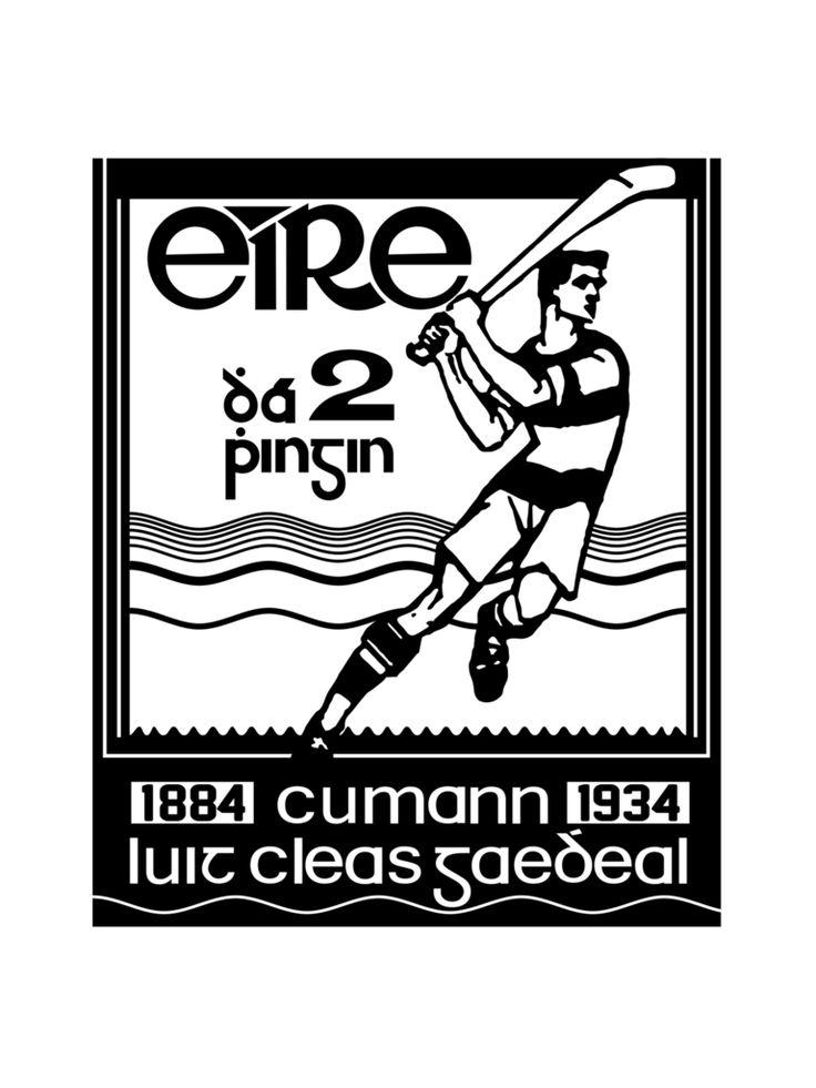 Hurling Stamp T-Shirt #Hurling #GAA #Irishpride