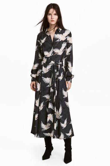ef680367267d Платье с рисунком - Черный Птицы - Женщины